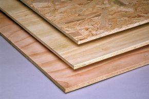 Фанера, OSB-плиты иДСП— древесно-клеевые материалы, использующиеся для одних итехже целей.