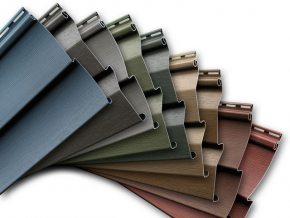 Сайдинг представляет собой панели для облицовки зданий: виниловые, деревянные, цокольные, металлические, керамические, цементные.